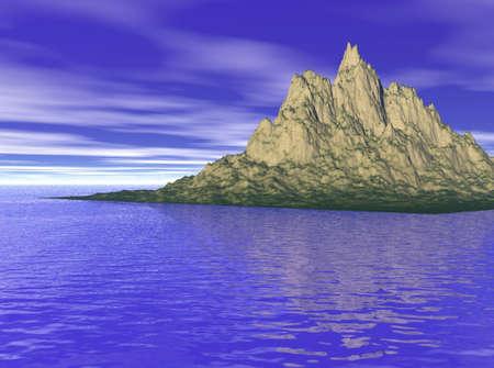 Eiland in zee Stockfoto