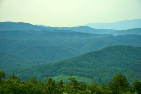 Hazy Day in the Smoky Mountains photo