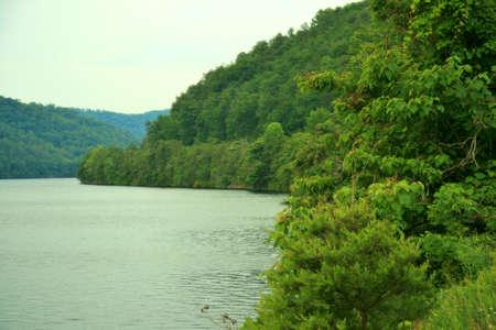 A Hazy Tennessee Lake