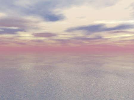 Nevel boven de zee