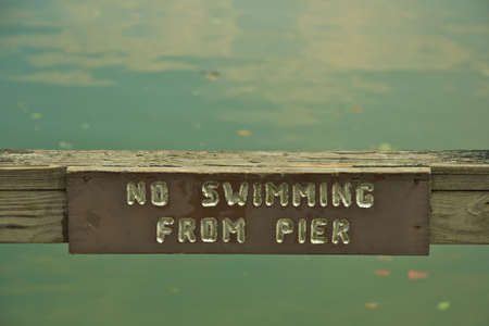 Sign on Pier Stock Photo - 3344779