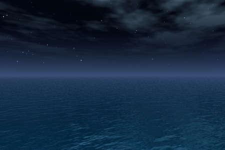 Night Sky over zee Stockfoto