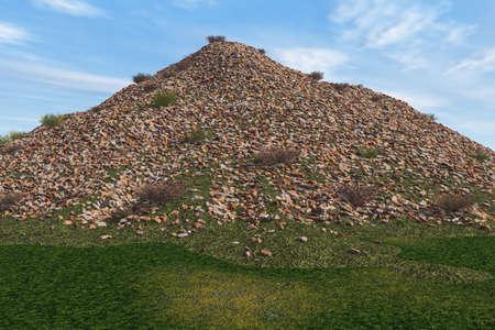 岩のマウンド 写真素材 - 3751157