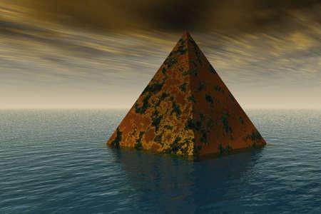 ピラミッドの上昇 写真素材