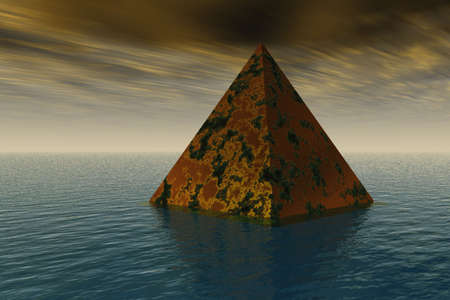 tarnished: Pyramid Rising Stock Photo