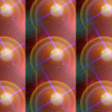 glisten: Unique Colored Patterns and Shapes Stock Photo