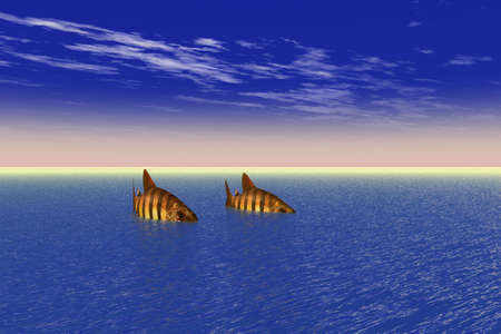 Two Fish in the Sea Stock Photo - 4050011