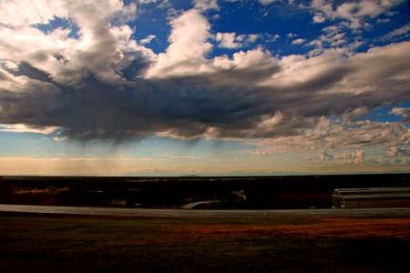 Storm clouds moving in toward Fairbanks, Alaska photo