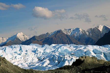 Schoonheid van het landschap op het platteland van Alaska. Stockfoto