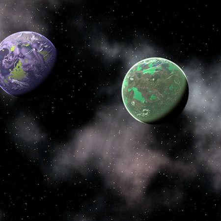 宇宙の世界  イラスト・ベクター素材