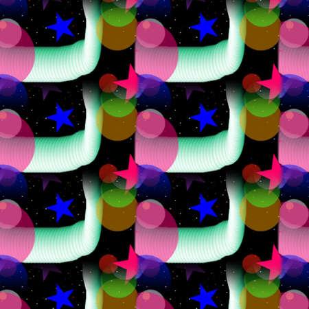 Vibrant Patterns and Shapes Stock fotó
