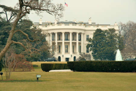 White House on the day prior to the inauguration of Barack Obama photo