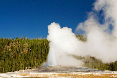 The famous geyser at Yellowstone Park in September Stock Photo - 4479392