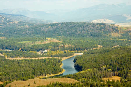 Rural river running through Yellowstone Park.