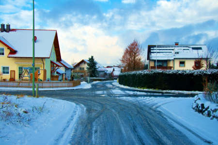A Bavarian village in the middle of winter.