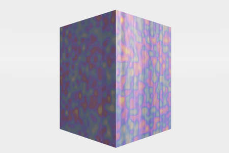Multi-colored cube with unique colors and shapes Stock Photo