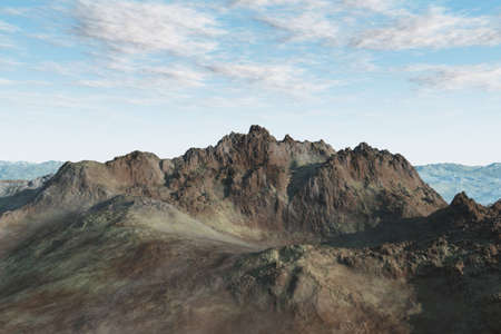 Very isolated mountain landscape with varying shapes and textues. photo