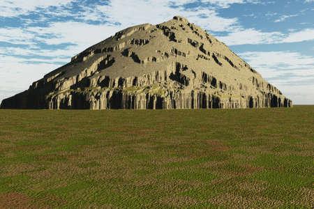 Unique texture on this mound type mountain. Stock Photo - 4710415