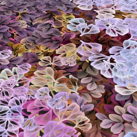 花と柔らかい葉  イラスト・ベクター素材