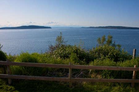 Nice late afternoon scene from a Washington coastal village. photo
