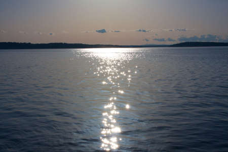 The sun creating a nice display of reflections over Puget Sound. photo