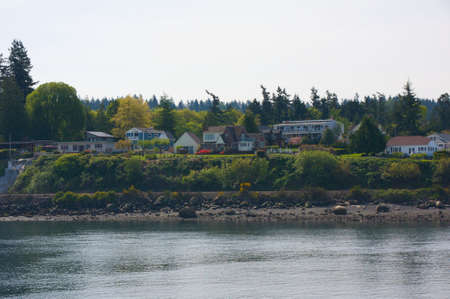 Beautiful bay area around coastal Washington area. photo