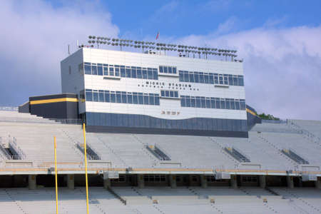 Michie Stadium, located at the US Military Academy in West Point, NY.  Photo taken 29 June 2009. Stock Photo - 6889630