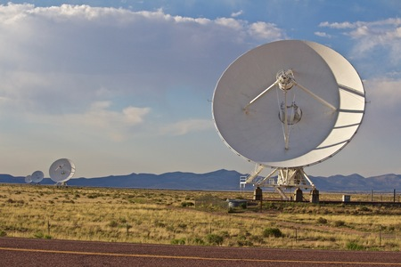 Four of the Very Large Array Dishes, Satellite dish Reklamní fotografie - 98980807