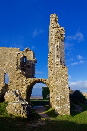 Ruins around an Archway at Corfe Castle