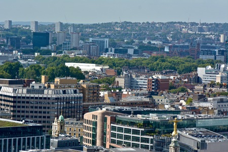 Lady Justice Overlooking London from Top of the Old Bailey in London, U.K.