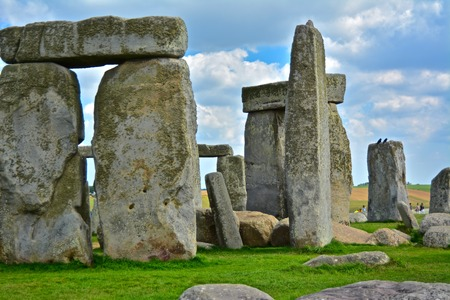 Rocks of Stonehenge On a Cloudy Summer Day