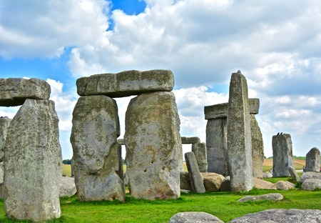 Rocks of Stonehenge On a Cloudy Summer Day Stock Photo