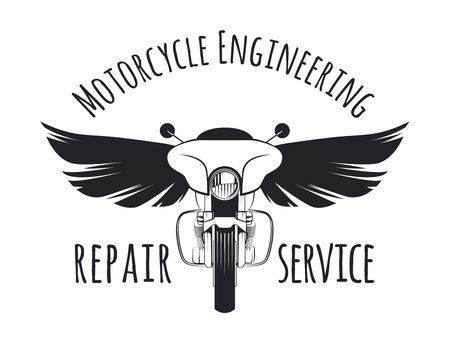 bagger: Vintage touring bagger motorcycle label