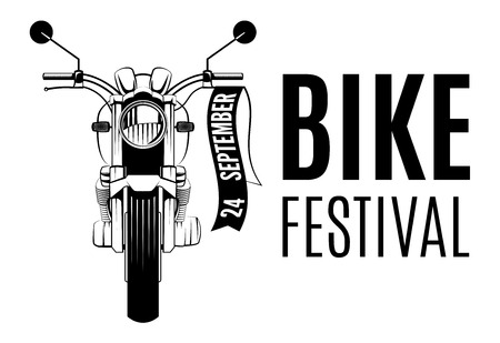 Motorcycle logo with the words Bike Festival