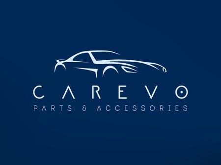 Modern sports car logo vector illustration. Vettoriali