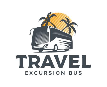 Tourist bus vector  on white background. Çizim