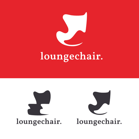 Set of furniture logo templates. Modern armchair design concepts. Lounge iconic chair sign. Home decor logotype. Çizim