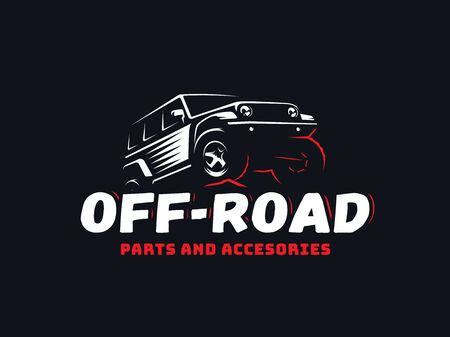 Classic suv off-road car logo.