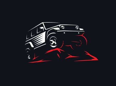 Classic suv off-road illustration. 向量圖像