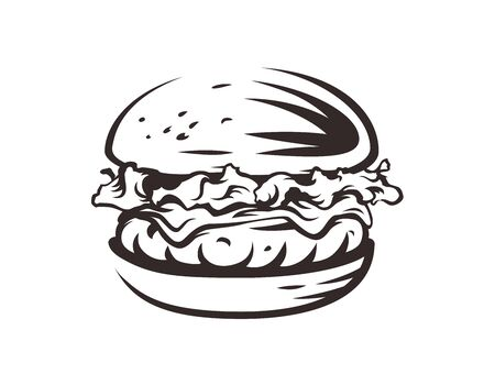 Burger shop logo. Fast food design.