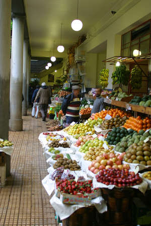 free radicals: The Indoor Fruit & Vegetable Market, Funchal, Madeira
