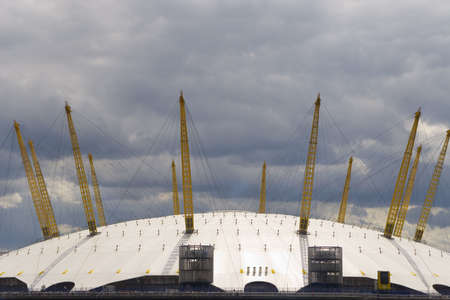 docklands: The O2 Arena, formerly the Millenium Dome in the docklands area of London, England