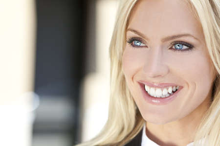 Natural light portrait of a beautiful blond woman with blue eyes Stock Photo - 8806884