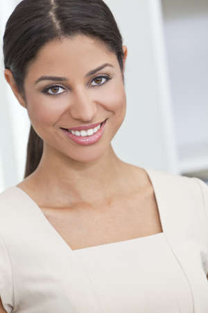 sexy latina: Portrait of a beautiful young Latina Hispanic woman smiling