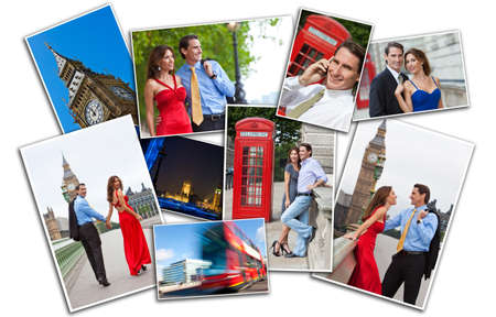 Romantic man and woman couple on vacation seeing the sights and landmarks in London, England, Great Britain photo