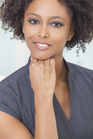 A beautiful mixed race African American young woman or businesswoman Stock Photo - 16299857