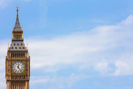 commons: Clock face on the famous landmark clock tower known as Big Ben in London, England. Part of the Palace of Westminster also known as the Houses of Parliament, Big Ben is actually the name of the Bell inside the tower.