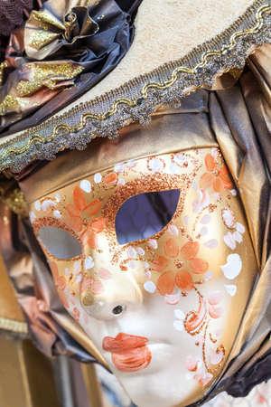 venice mask: Mask on display at the Carnival of Venice, Carnevale di Venezia, Italy