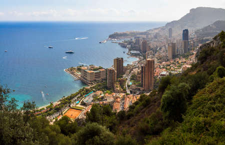 monte carlo: View of Monte Carlo, Monaco on the Mediterranean Cote dAzur