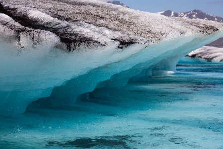 Climate change global warming concept, melting Iceberg in Jokulsarlon Glacier Lagoon, Iceland